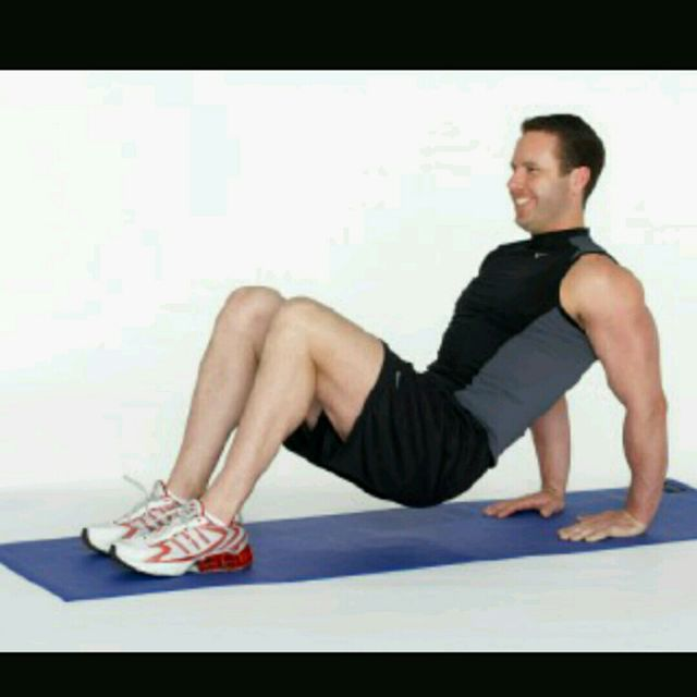 How to do: Tricep Dip Crunch - Step 1