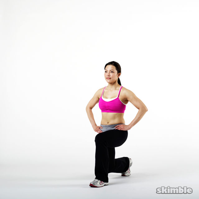How to do: Left Leg Front-and-Back Lunges - Step 2