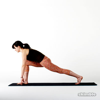Crescent to Right Low Lunge