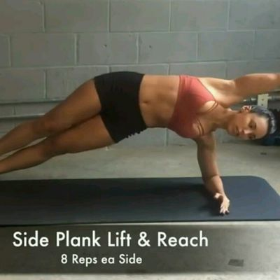 Side Plank Lift & Reach