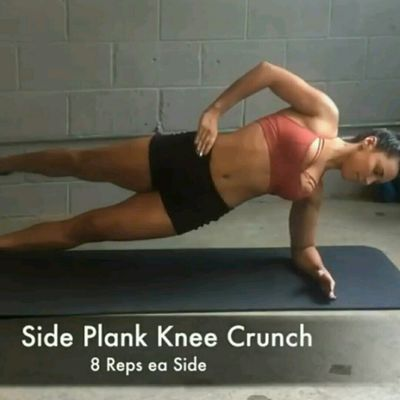Side Plank Knee Crunch