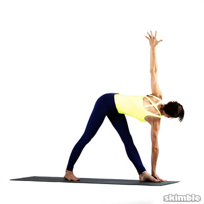 LEFT WIDE LEG TWIST  Opposite Hand To Foot HOLD