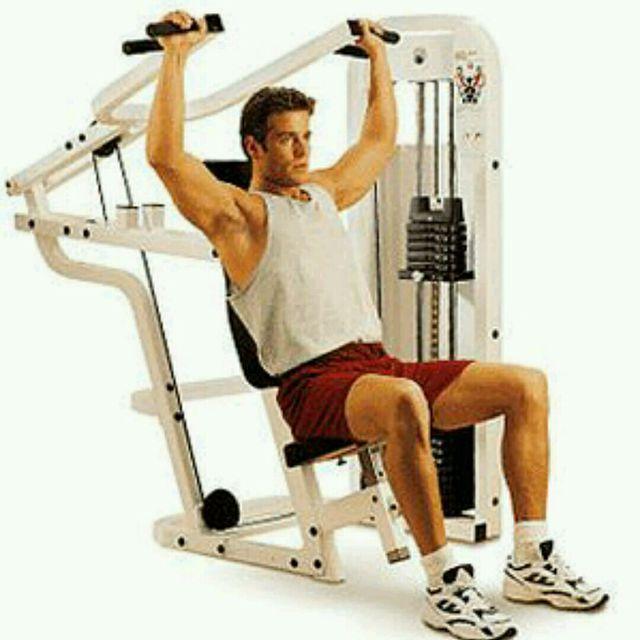 How to do: Machine Shoulder Press - Step 1