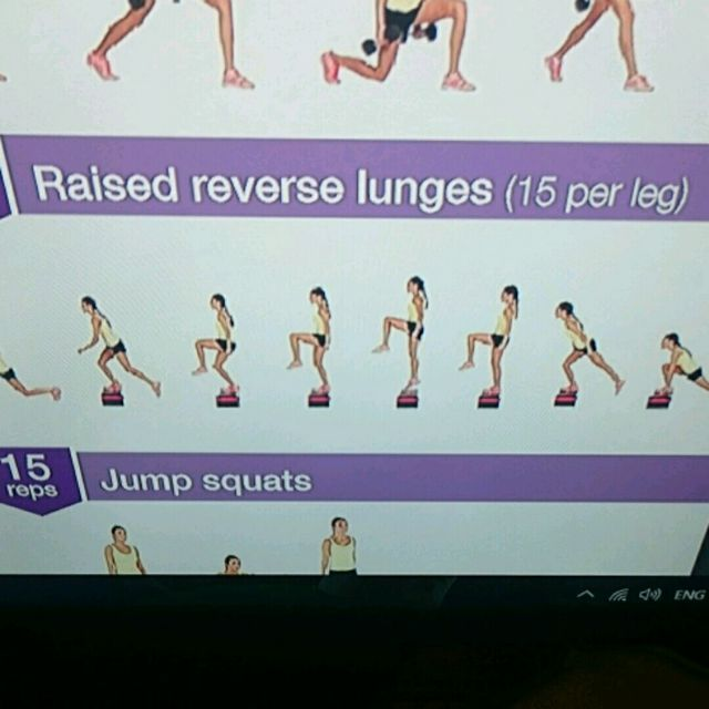 How to do: Raised Reverse Lunge - Step 1