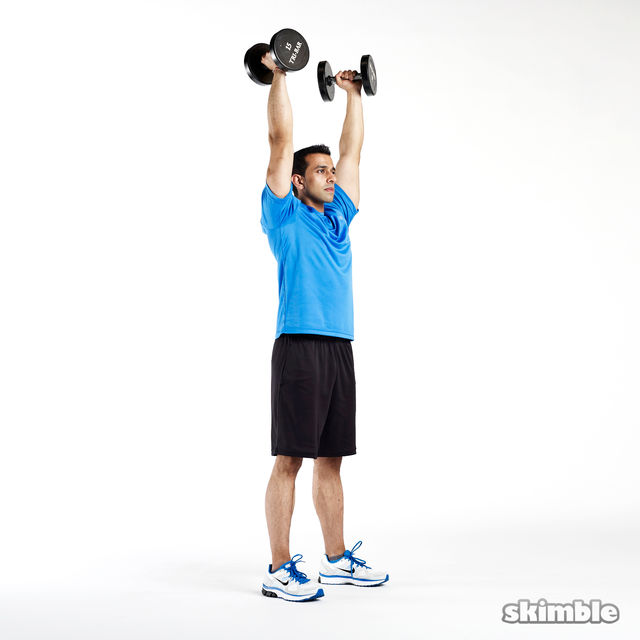 How to do: Dumbbell Push Press - Step 5