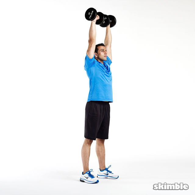 How to do: Dumbbell Push Press - Step 2