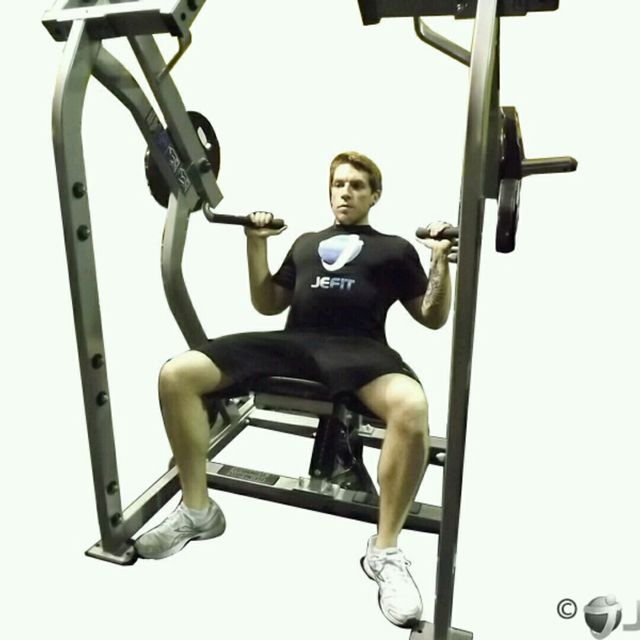 How to do: leverage Shoulder press - Step 1