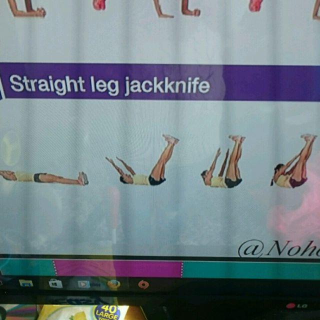 How to do: Straight Leg Jackknife - Step 1