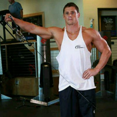 Cable Standing deltoid Raise