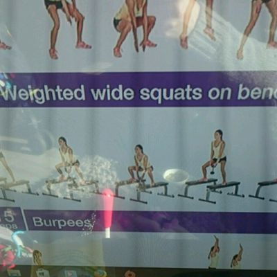 Wide Squat On Bench