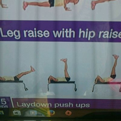 Leg Raise With Hip Raise