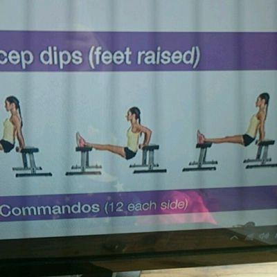 Tricep Dip With Feet Raised