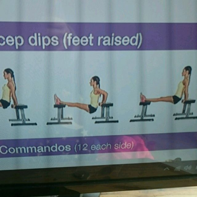 How to do: Tricep Dip With Feet Raised - Step 1
