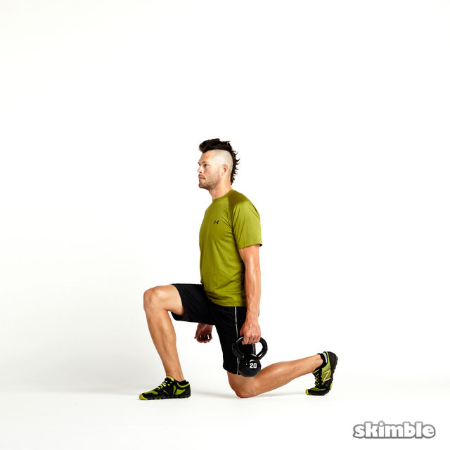 How to do: Alternating Suitcase Split Squats with Kettlebell - Step 4