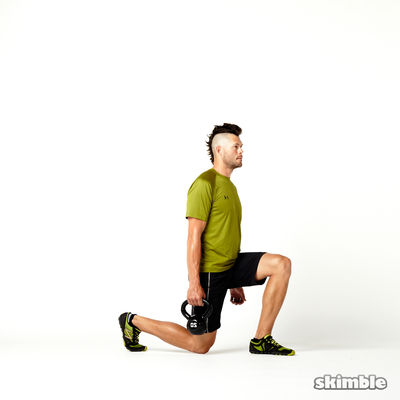 Left Suitcase Split Squats with Kettlebell