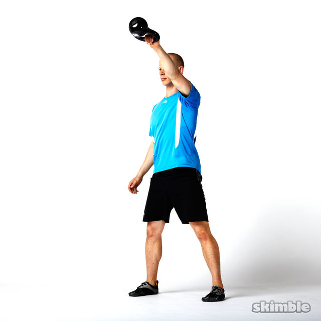How to do: Left Kettlebell Swings - Step 3