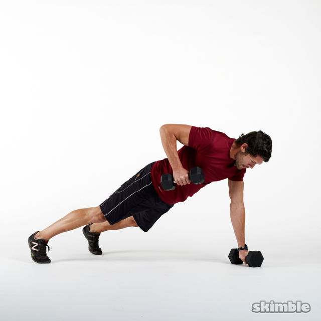 How to do: Dumbbell Renegade Rows - Step 2