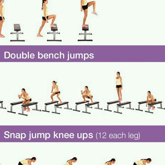 How to do: Double Bench Jump - Step 1