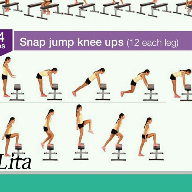 How to do: Snap Jump Knee Ups - Step 1