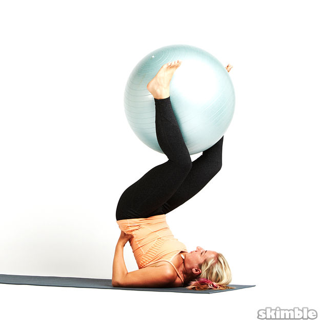 How to do: Shoulder Stands with Ball - Step 3