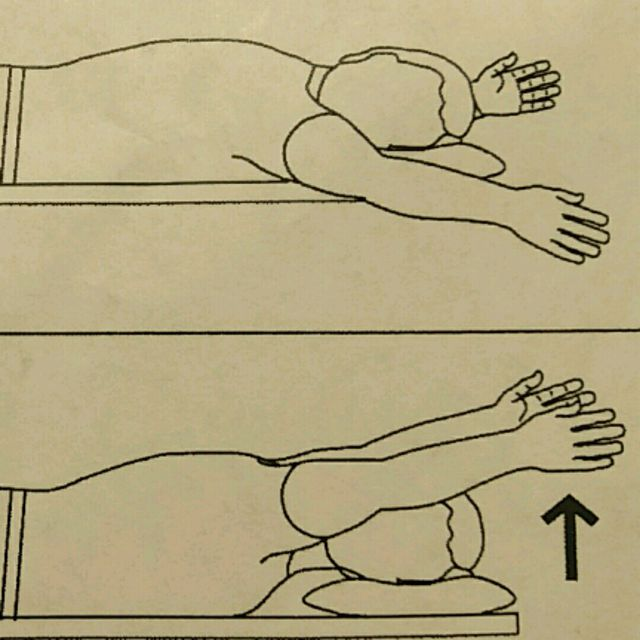 How to do: Shoulder Flex Prone Thumb Up - Step 1