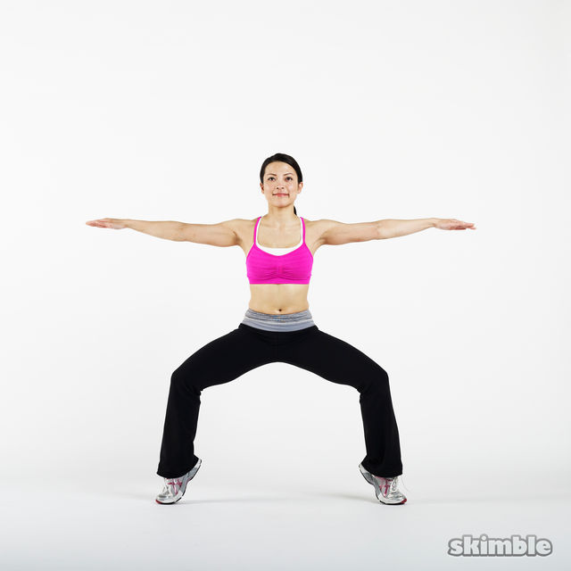 Plie Squats with Tip Toes - Exercise How-to - Workout ...