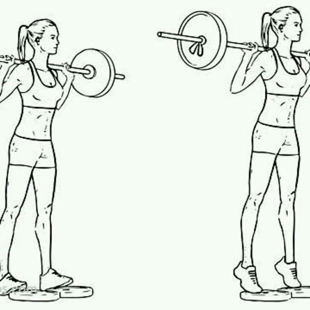 How to do: Standing Calf Raises - Step 1