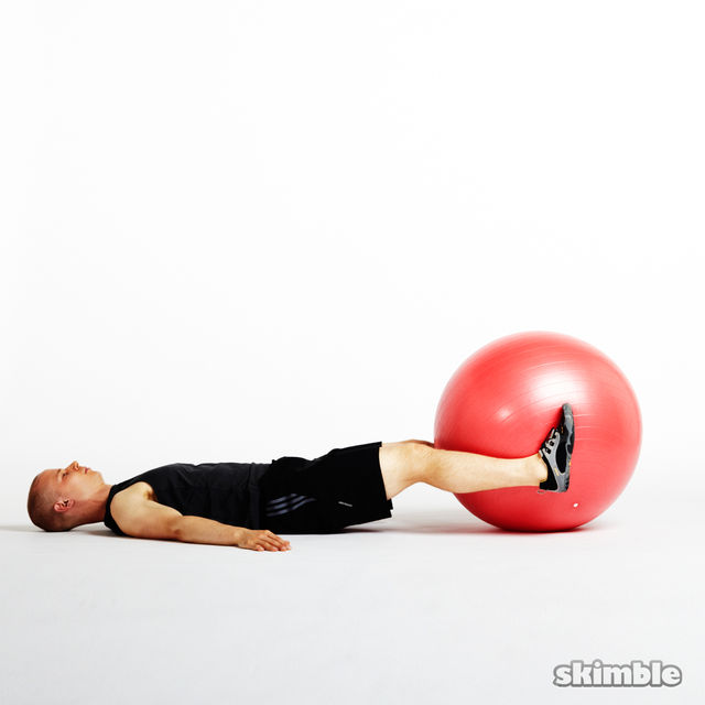 How to do: Ball Leg Lifts - Step 3