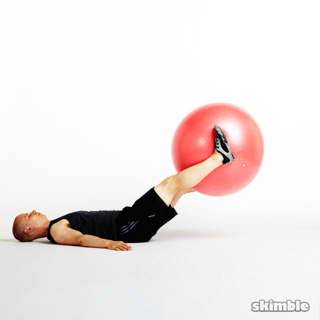 How to do: Ball Leg Lifts - Step 6