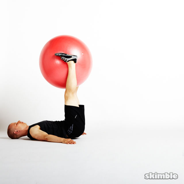How to do: Ball Leg Lifts - Step 5