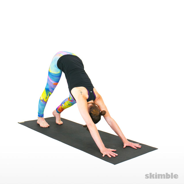 How to do: Downward Facing Dog with Calf Stretch - Step 3