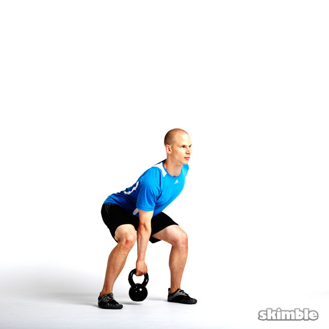 How to do: Right Arm Kettlebell Swings - Step 3