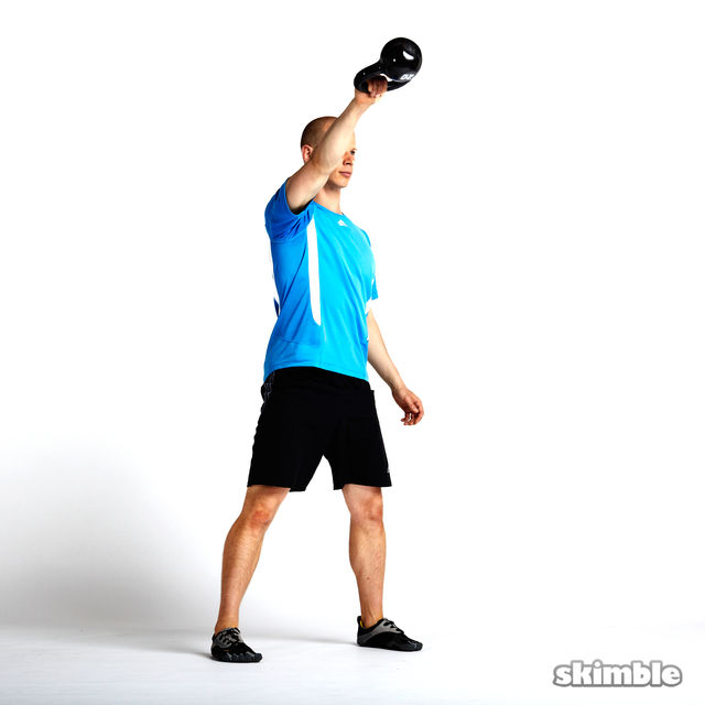 How to do: Right Arm Kettlebell Swings - Step 5