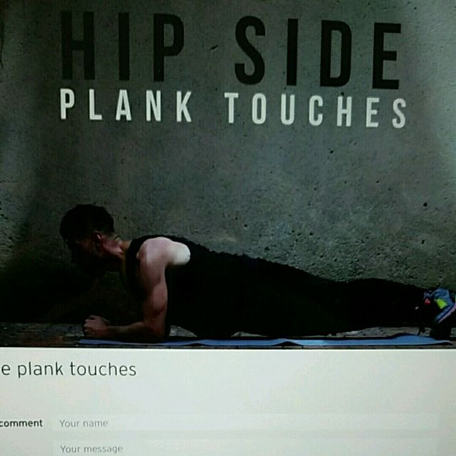 How to do: Hip Side Plank Touches - Step 1