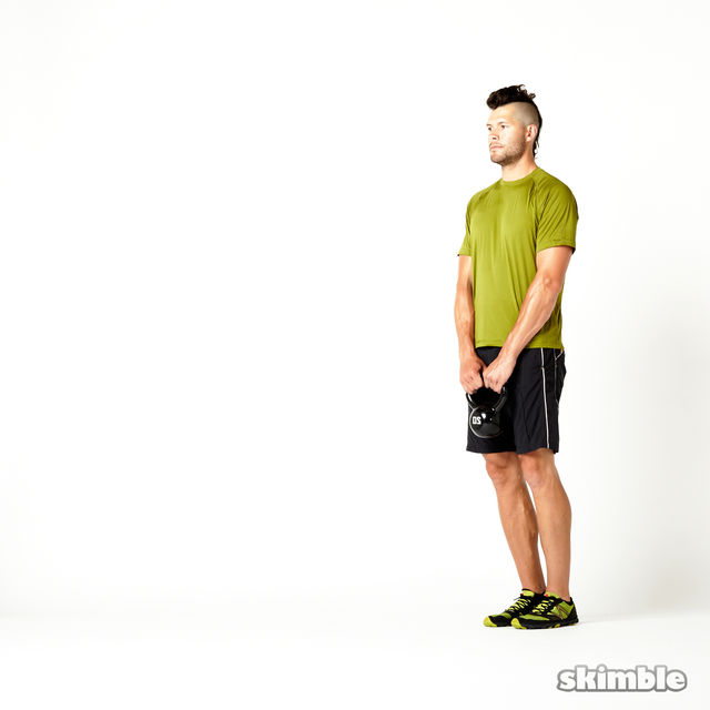 How to do: Left Lunge with Kettlebell Raise - Step 2