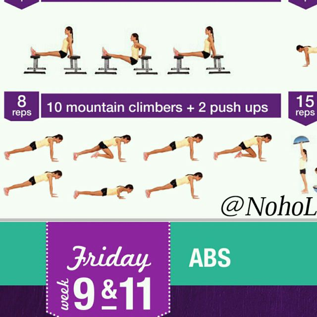 How to do: 10 Mountain Climb & 2 Push Ups - Step 1