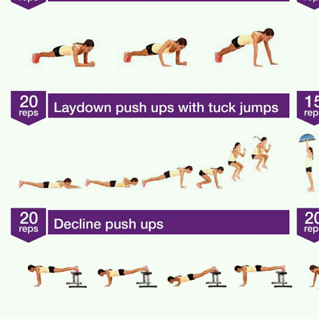 How to do: Push Up With Tuck Jump - Step 1