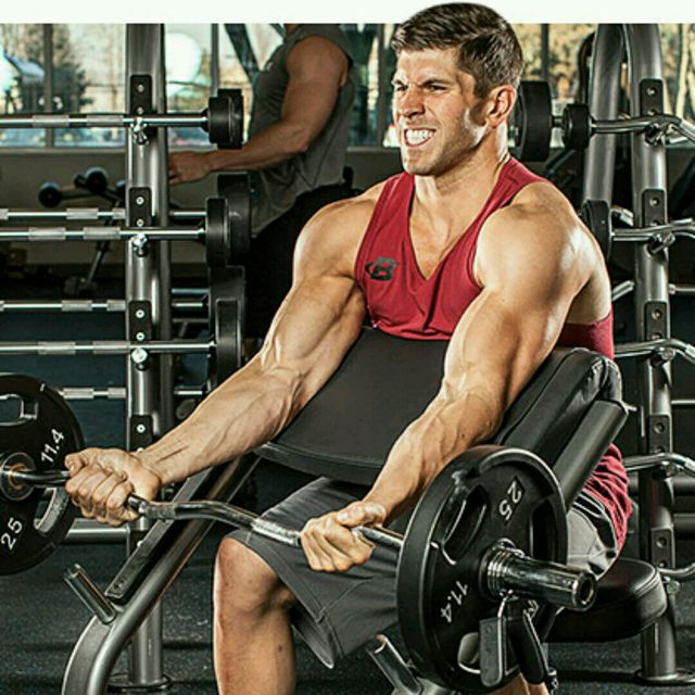 How to do: Barbell Biceps Scott - Step 1