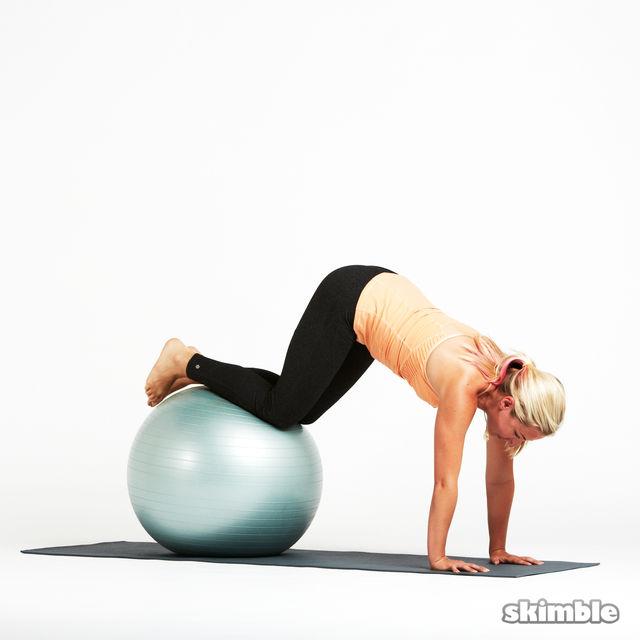 How to do: Stability Ball Knee Tucks - Step 3