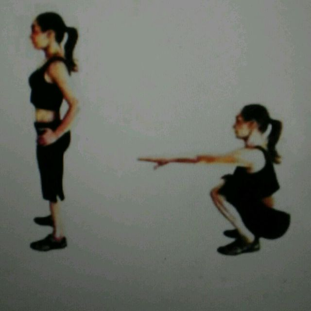 How to do: Low Squats - Step 1