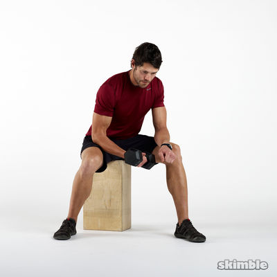 Right Concentrated Bicep Curls 10 Reps