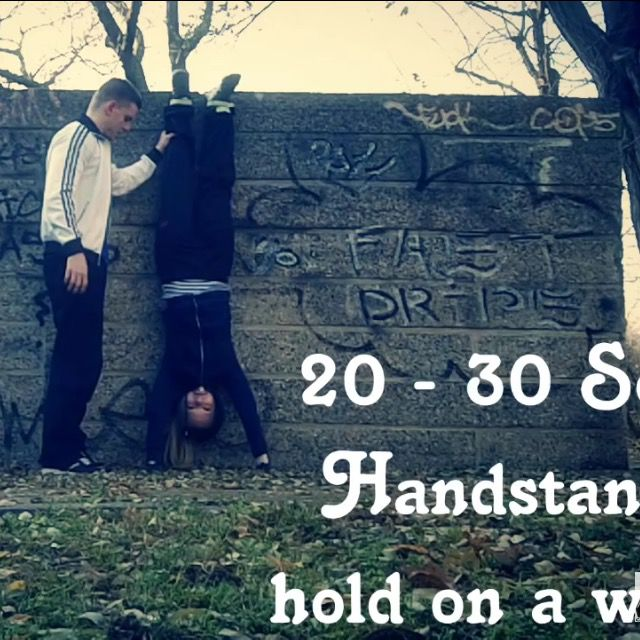 How to do: Handstand On A Wall - Step 1