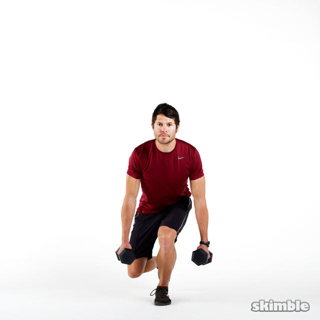 How to do: Dumbbell Left Leg Squats - Step 2