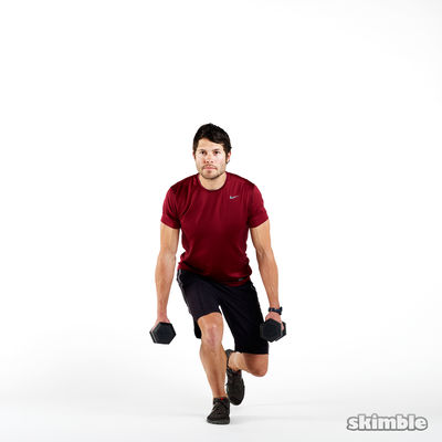 Dumbbell Right Leg Squats