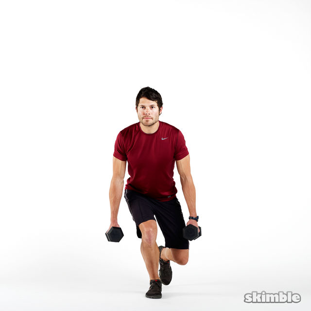 How to do: Dumbbell Right Leg Squats - Step 2