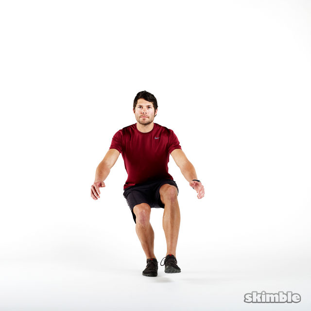 How to do: Right Leg Squats - Step 2