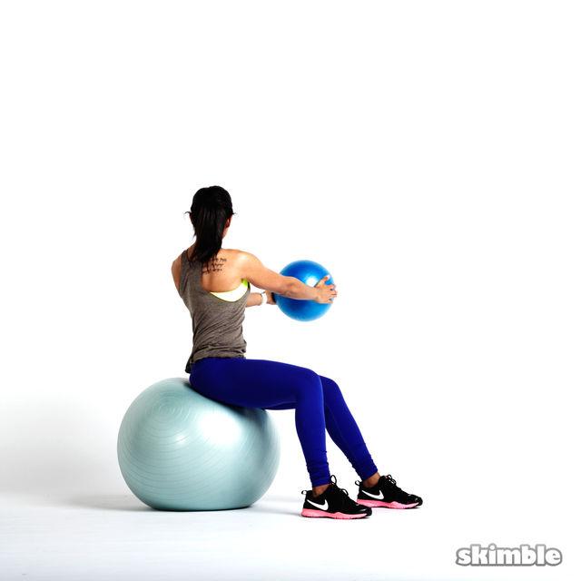 How to do: Torso Rotations with Medicine Ball - Step 2