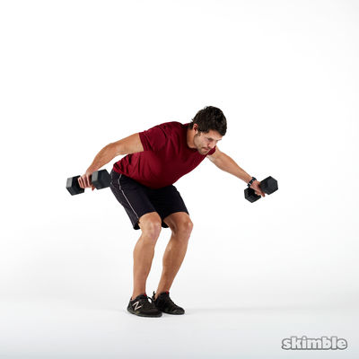 Dumbbell Rear Lateral Raises (8 Reps)