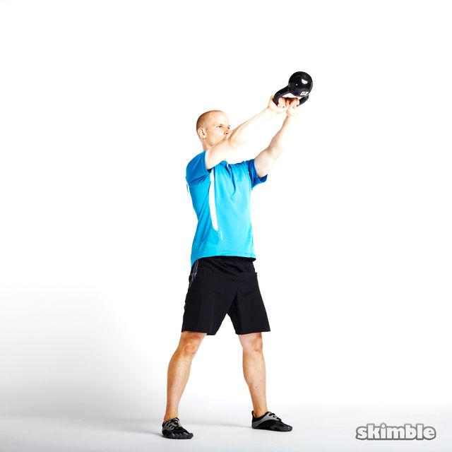 How to do: Alternating Kettlebell Swings - Step 1