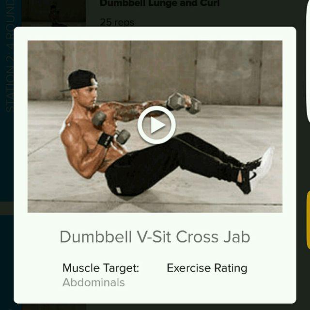 How to do: Dumbell V-Sit Cross Jab - Step 1